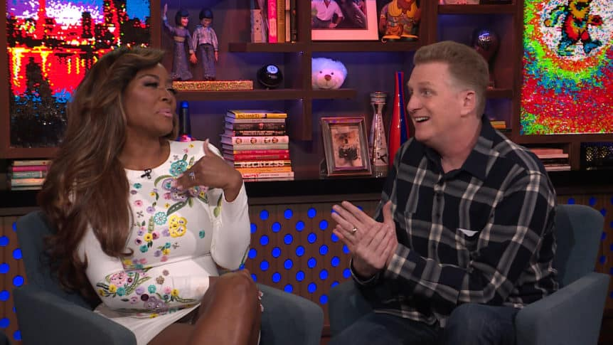 Kenya Moore and Michael Rapaport Argue on Watch What Happens Live with Andy Cohen